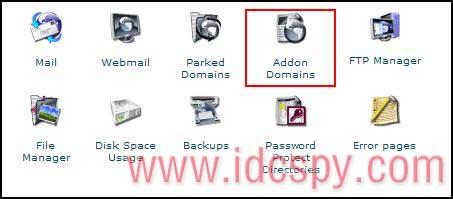 CPanel面板Addon Domain域名
