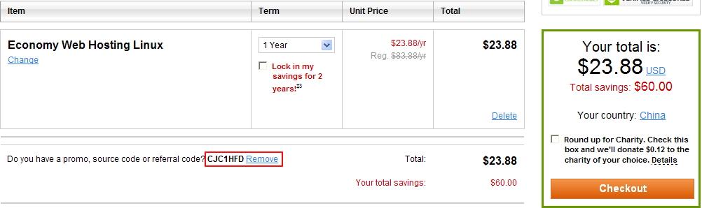 Godaddy经济型虚拟主机1.99美元优惠码