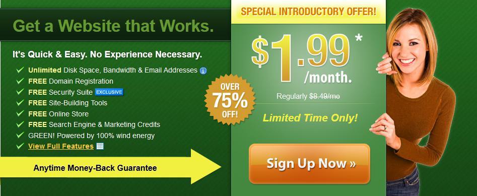 美国虚拟主机iPage八月1.99美元优惠促销