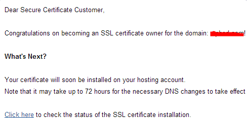 GoDaddy官方发来的邮件提醒。