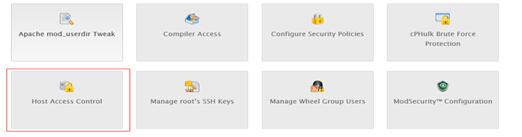 Host Access Control