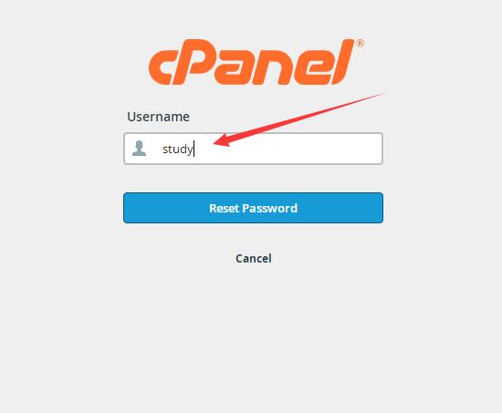 cpanel重置密码界面