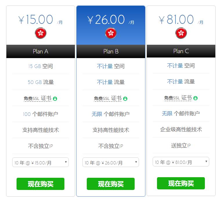 bluehost Windows主机价格配置